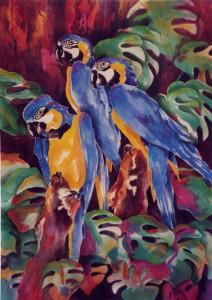 Blue Macaw Trio2 44x60